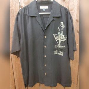 Tommy Bahama 100% Silk men's button down shirt